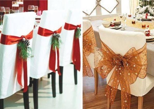 Создаем праздничный интерьер, или Чехлы на стулья своими руками