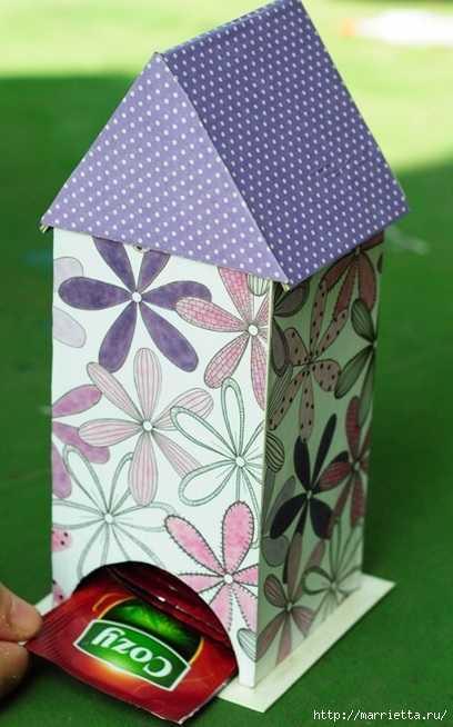 Чайный домик своими руками — милый сувенир и полезная вещь