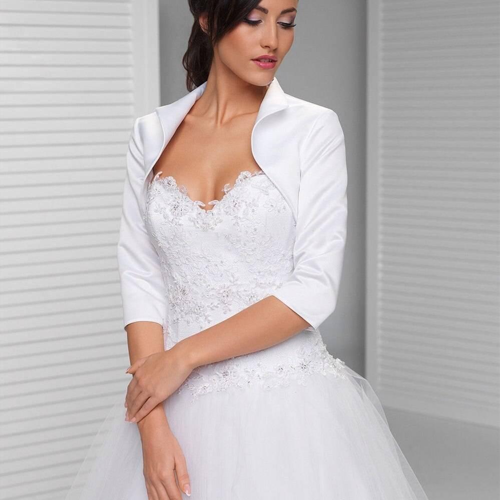 Свадебное болеро: правила выбора и разнообразие моделей