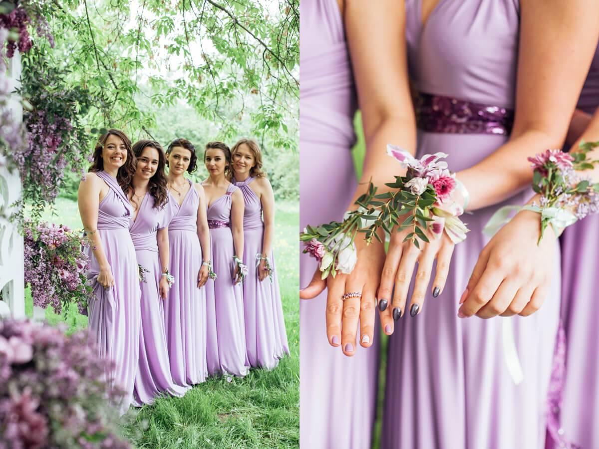 Свадьба в сиреневом цвете — красивый шаг в семейную жизнь