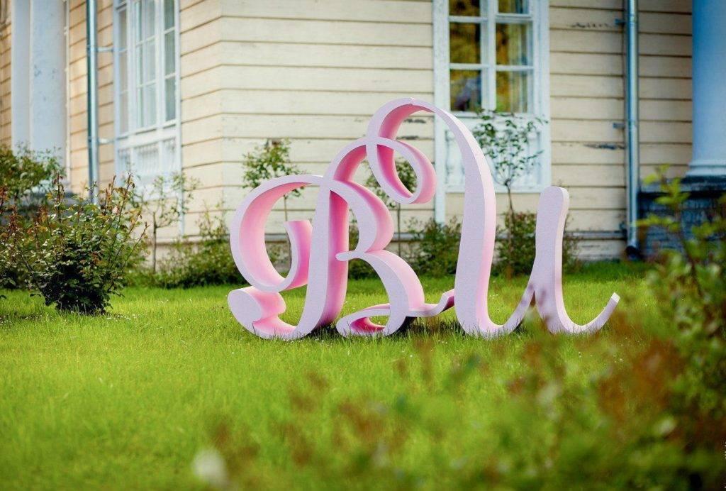 Объемные буквы своими руками — яркие акценты свадебной фотосессии