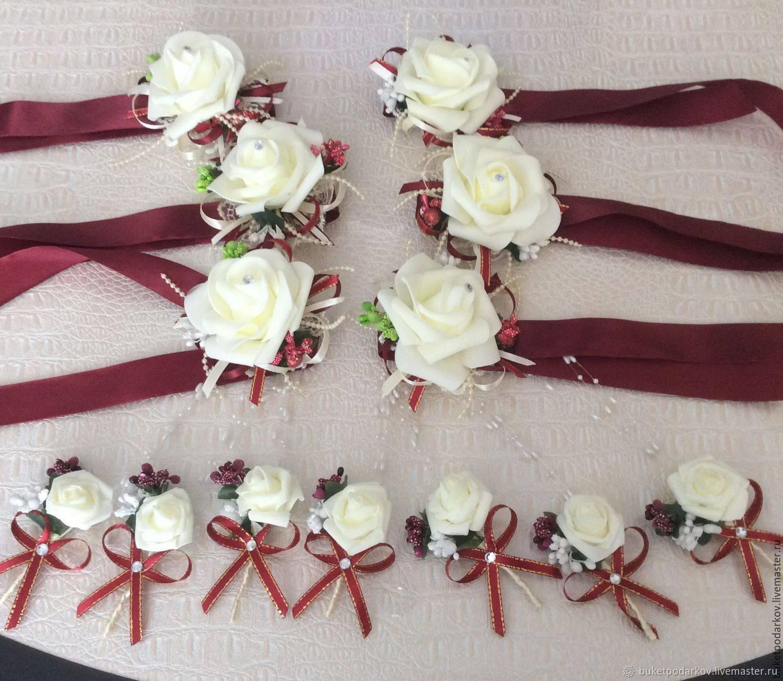 Стильная свадьба: бутоньерка своими руками из цветов и атласа