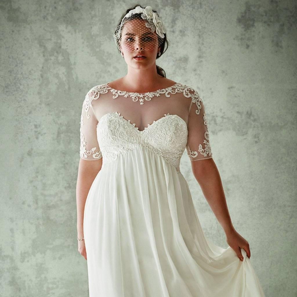 Свадебные платья для полных девушек — подчеркиваем достоинства