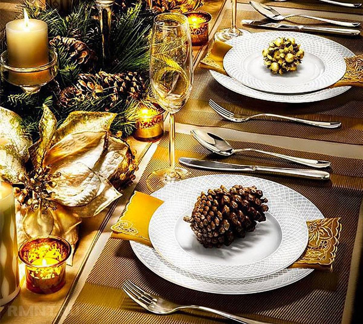 Как оформить праздничный новогодний стол к году Обезьяны?