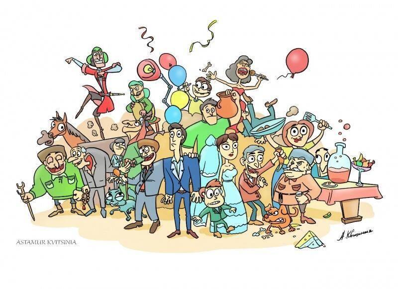 Шуточное поздравление и подарки на 10-летний юбилей фирмы