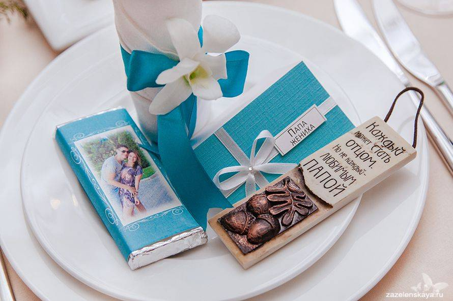 Подарки гостям на свадьбе — «Cпасибо, что вы с нами»