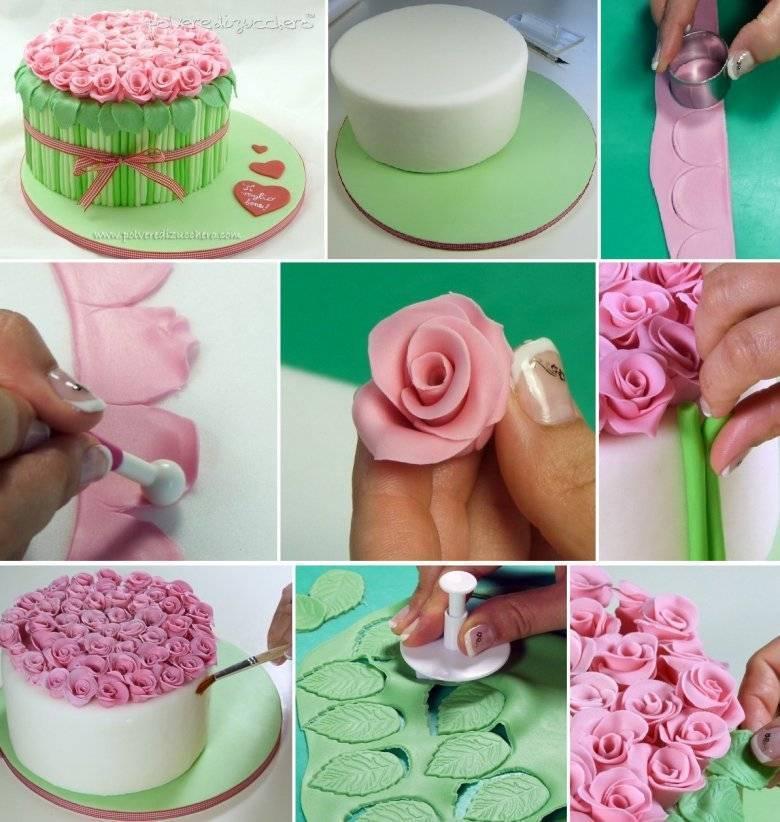 Как украсить торт мастикой в домашних условиях
