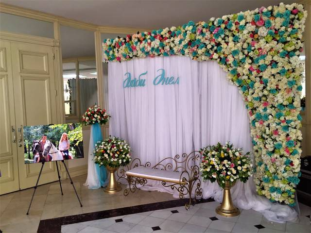 Баннер на свадьбу – оригинальный фон для фотосессии