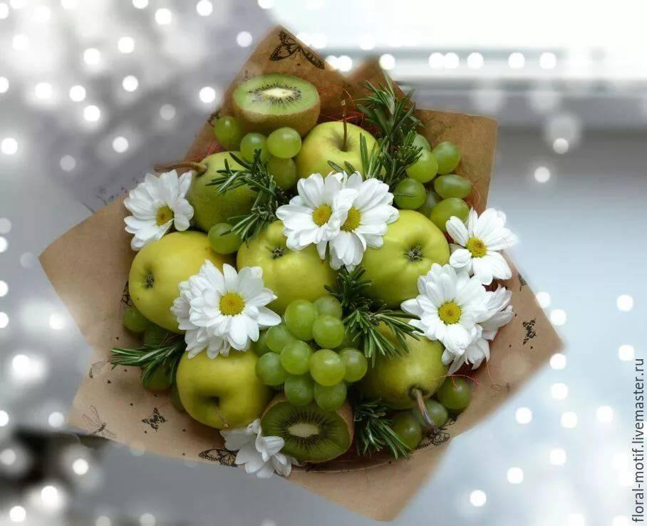 Букеты из фруктов для оригинального подарка и праздничного десерта