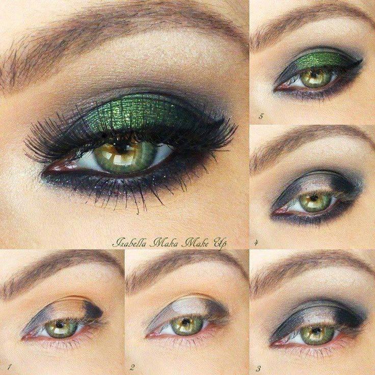 Все грани женской красоты: вечерний макияж для зелёных глаз