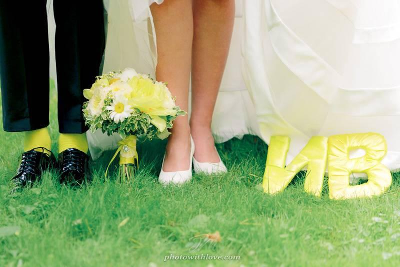 Желтая свадьба — позитивное настроение на всю семейную жизнь