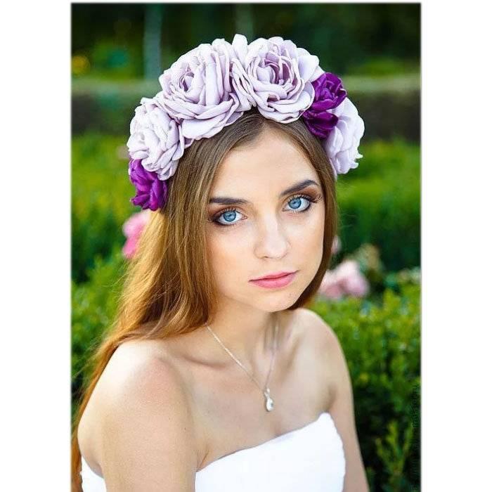 Украшение на свадьбу и любой другой праздник — ободок с цветами