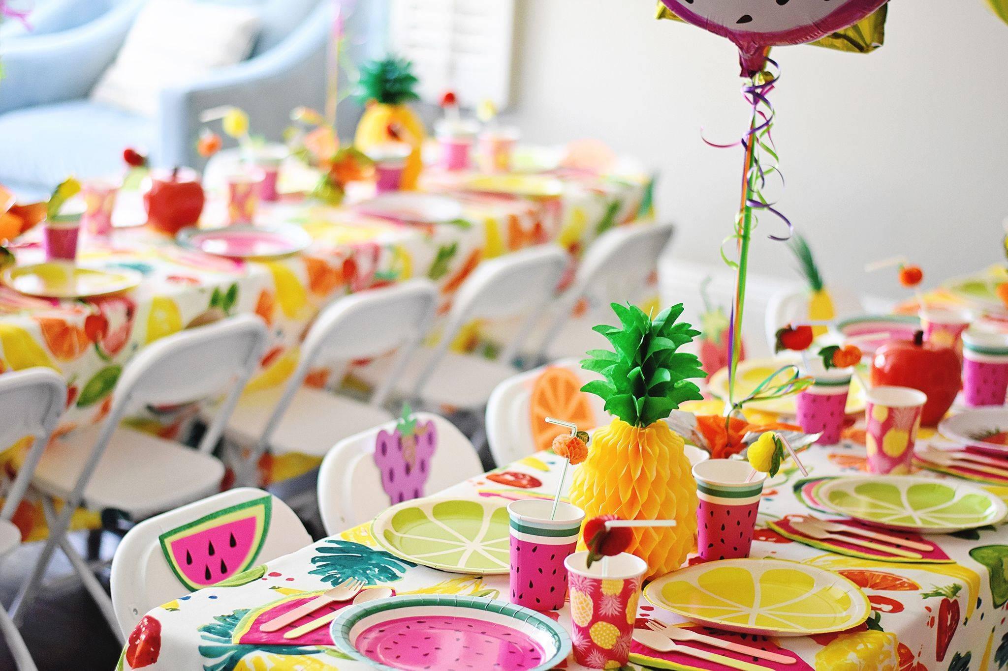 Украшение стола на день рождения как искусство