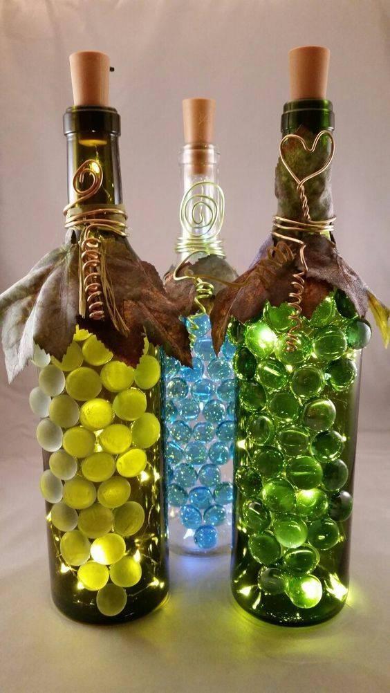 Делаем праздник особенным — декор бутылок своими руками