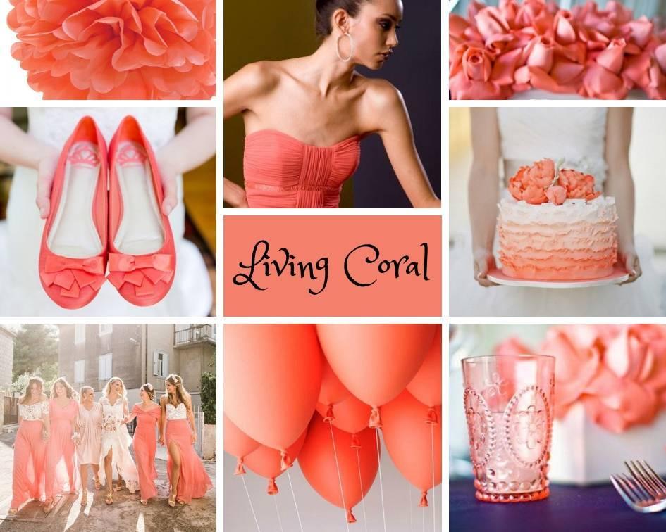 Свадьба в коралловом цвете: актуальные идеи