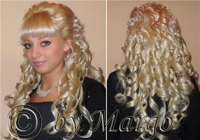 Свадебная прическа с накладными прядями — объем и красота волос в квадрате