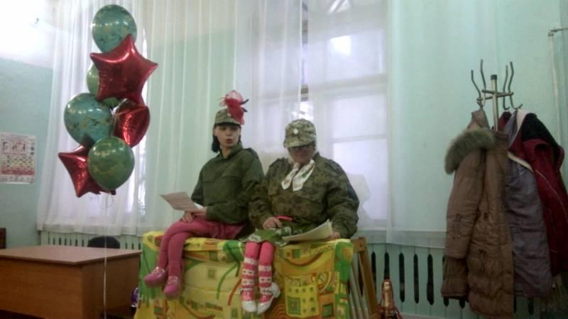 """Костюмированная сценка к 23 февраля """"Модельер Стакашкин с новой коллекцией"""""""