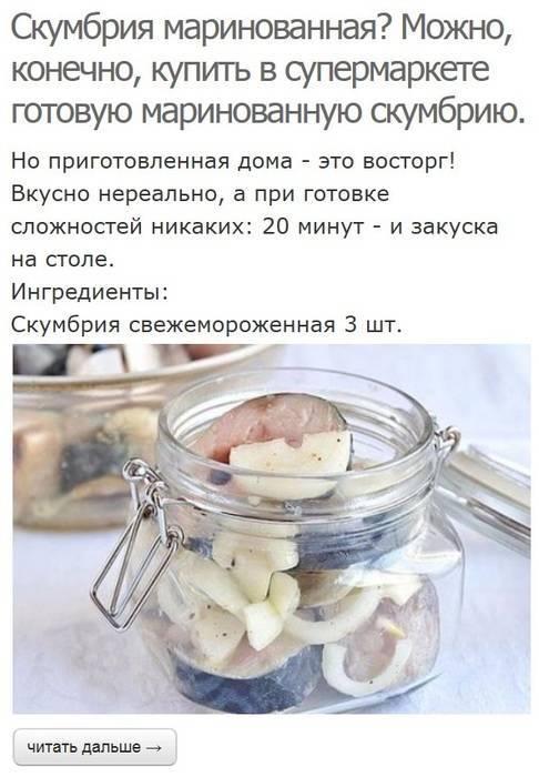 Скумбрия как ценный продукт для детского питания