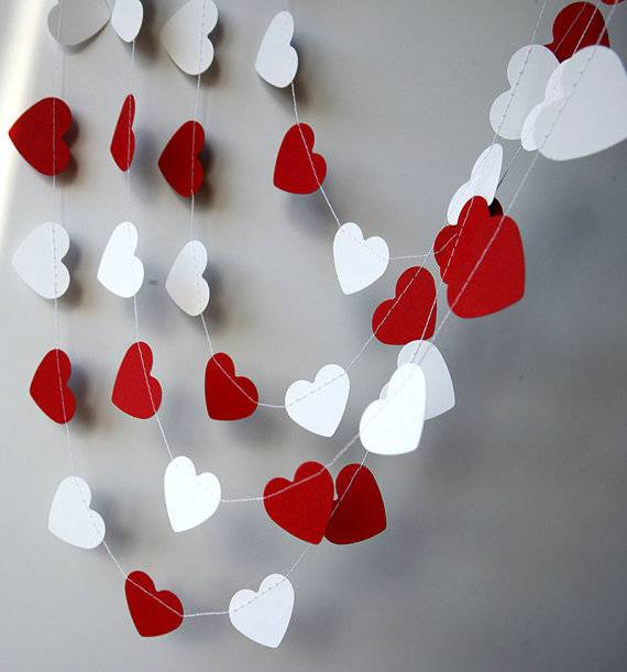 Гирлянда из сердечек своими руками — создаем атмосферу праздника любви