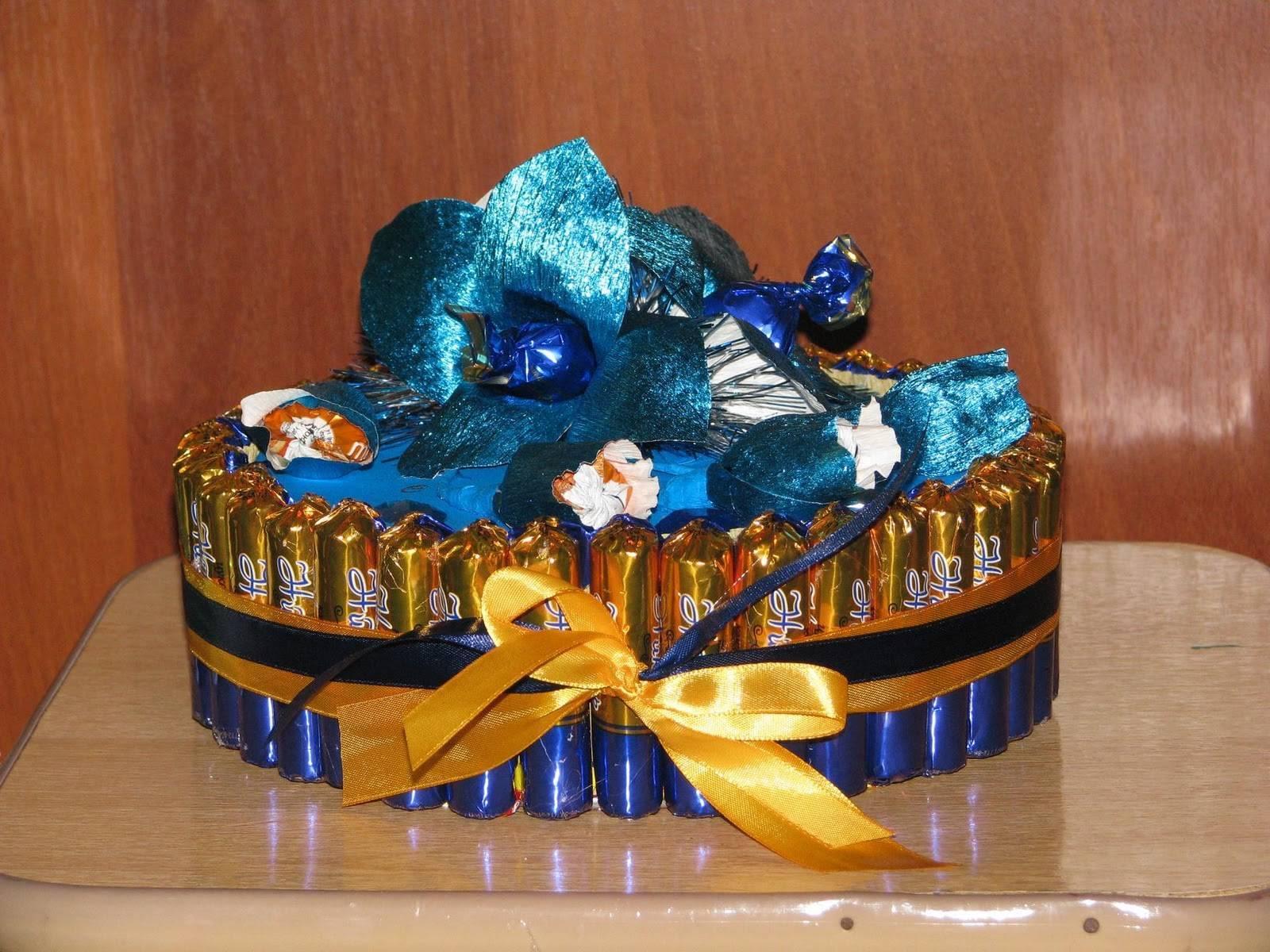 Как сделать торт из конфет своими руками — оригинальный подарок для любого праздника