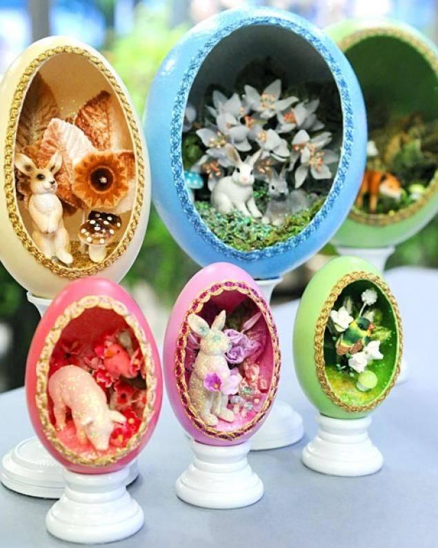 Пасхальные яйца своими руками в подарок и для декора