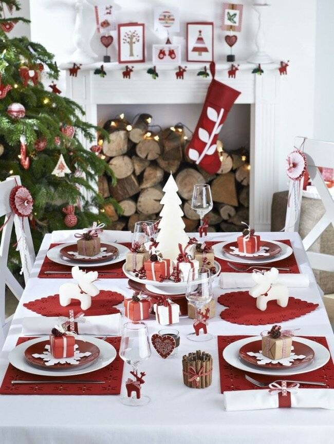 Декор и сервировка новогоднего стола
