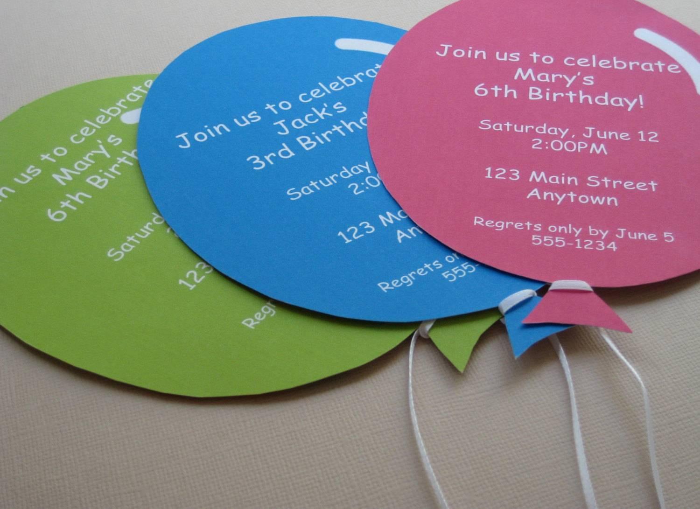 Пригласительные на детский день рождения — для настоящего праздника