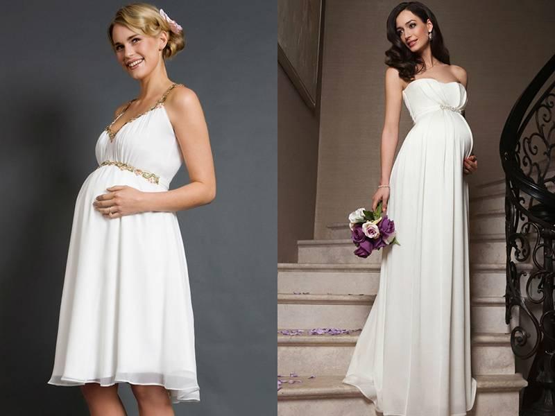 Свадебные платья для беременных, или Что надеть невесте «с плюсом»