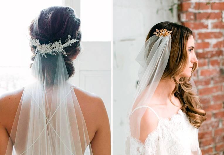 Cвадебные прически с фатой — гармоничный образ невесты