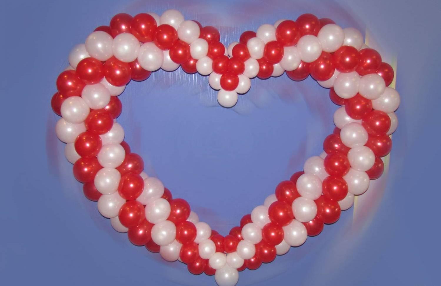 Сердце из шаров: легко, быстро, оригинально