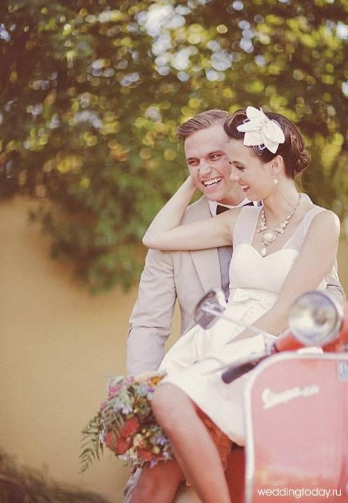 Свадьба в стиле стиляги: феерия веселья, цвета и музыки
