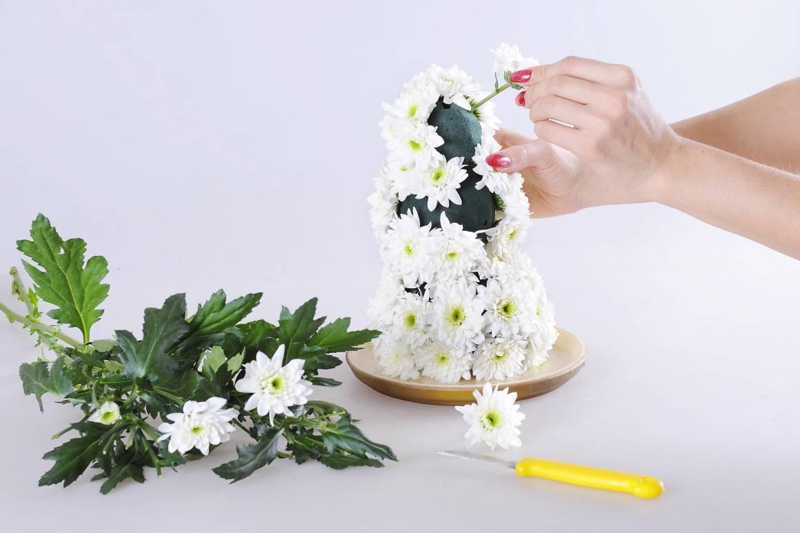 Букет из хризантем — в любое время года и по любому поводу