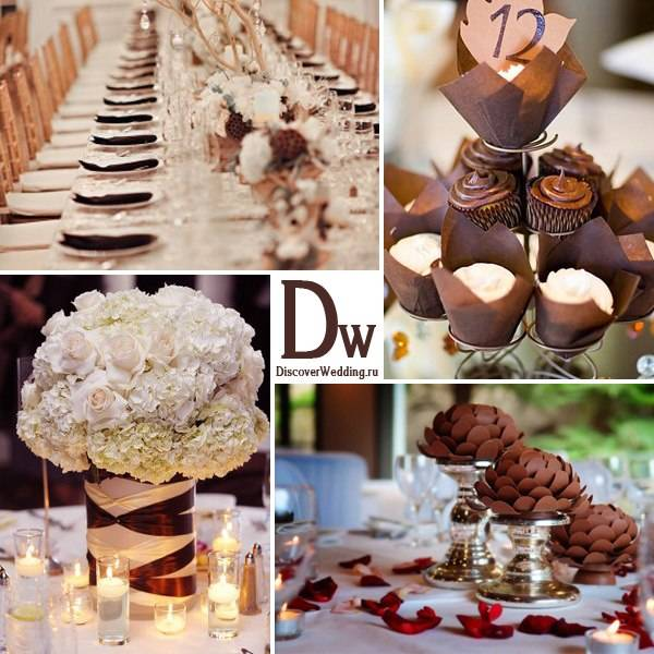 """Как устроить """"теплую"""" шоколадную свадьбу зимой"""