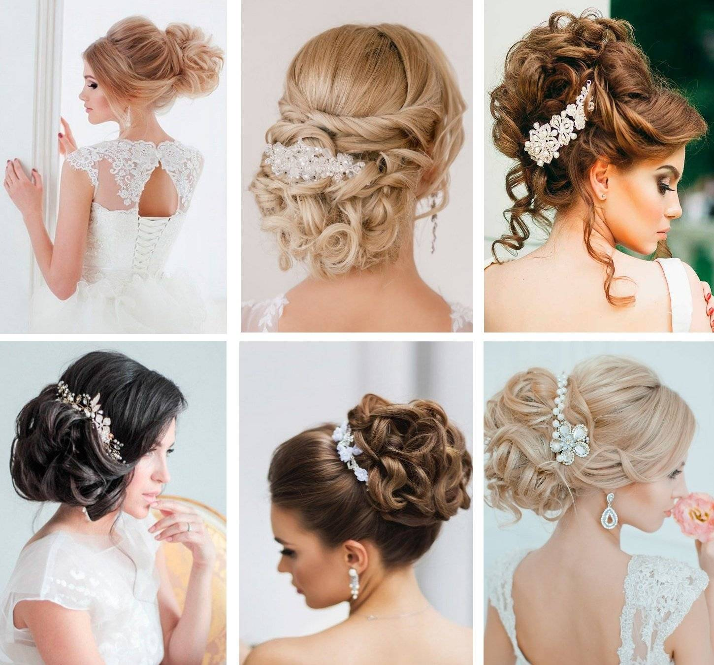 Свадебные прически на средние волосы для королевы торжества