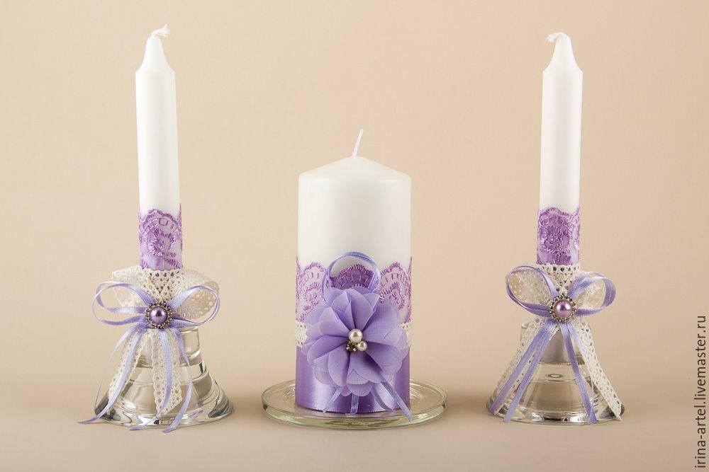 Свадебные свечи своими руками: несколько простых мастер-классов