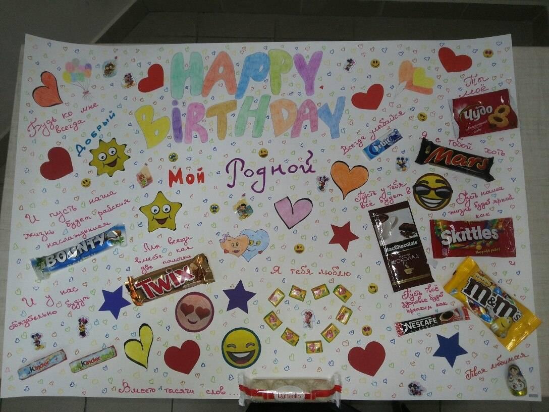 Плакат на день рождения подруге своими руками, или Еще раз о дружбе