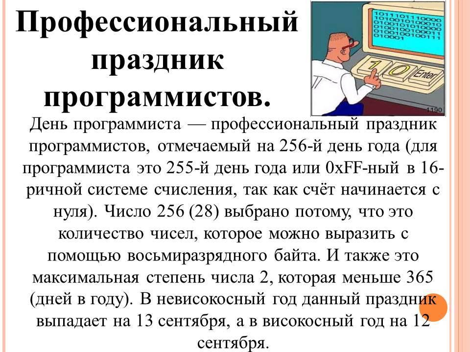 День программиста в России История праздника
